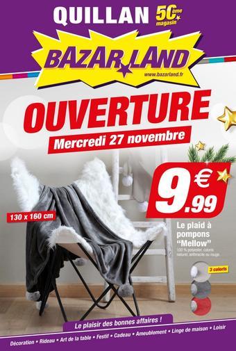 Bazarland catalogue publicitaire (valable jusqu'au 08-12)