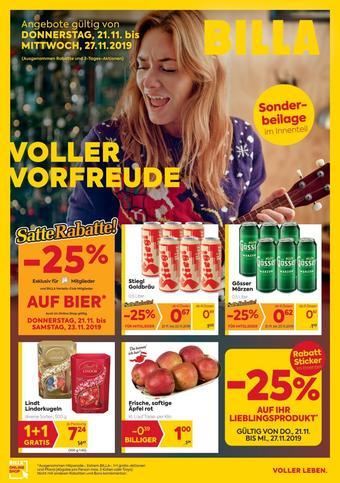 Billa Werbeflugblatt (bis einschl. 27-11)