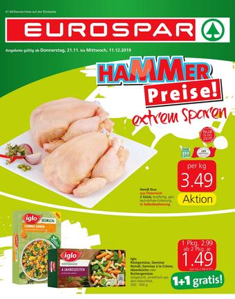 Eurospar Werbeflugblatt (bis einschl. 11-12)