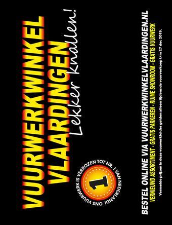 Vuurwerkwinkel Vlaardingen reclame folder (geldig t/m 31-12)