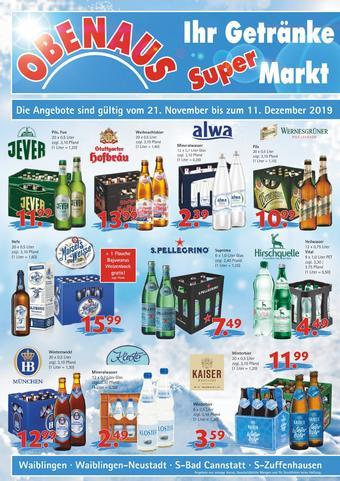Obenaus Getränke Prospekt (bis einschl. 11-12)