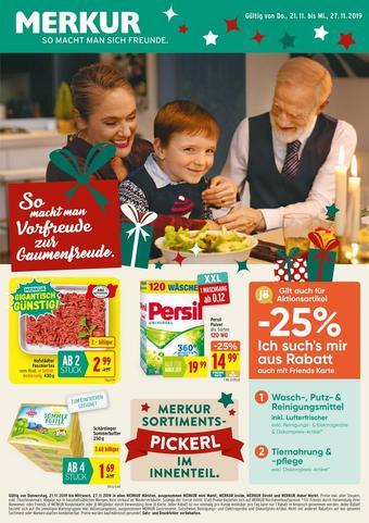 MERKUR Markt Werbeflugblatt (bis einschl. 27-11)