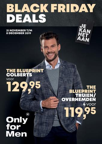 Only for Men reclame folder (geldig t/m 15-12)
