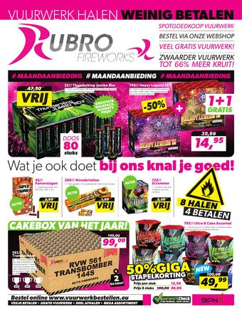 Rubro fireworks reclame folder (geldig t/m 31-12)