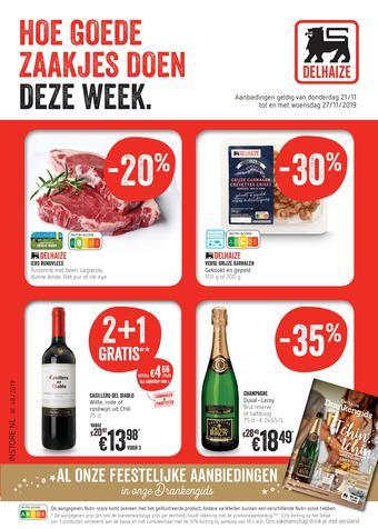 Delhaize reclame folder (geldig t/m 27-11)