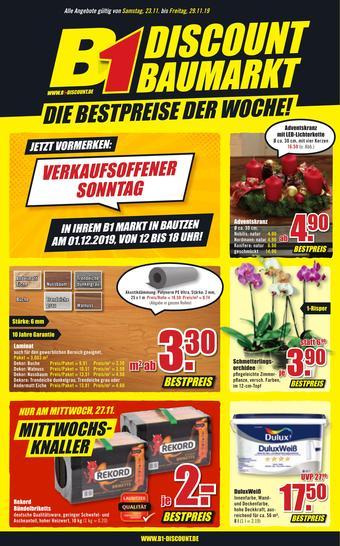 B1 Discount Baumarkt Prospekt (bis einschl. 29-11)