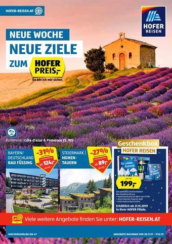 Hofer Reisen Werbeflugblatt (bis einschl. 17-12)