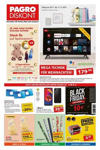 Pagro-Diskont Werbeflugblatt (bis einschl. 11-12)
