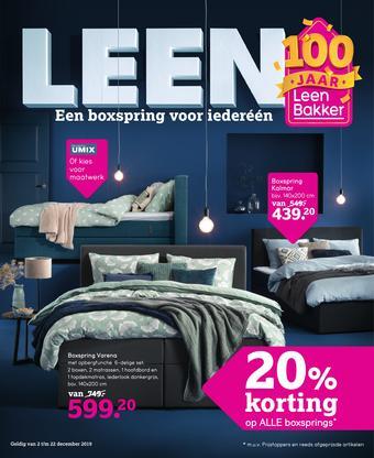 Leen Bakker reclame folder (geldig t/m 22-12)