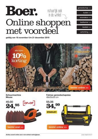 Boer Staphorst reclame folder (geldig t/m 21-12)