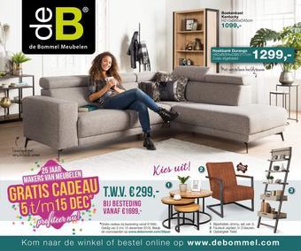De Bommel Meubelen reclame folder (geldig t/m 15-12)