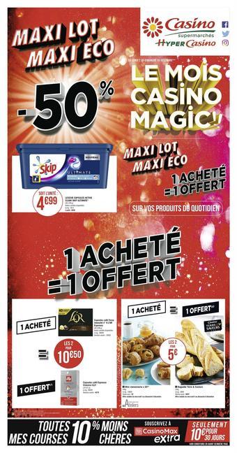 Hyper Casino catalogue publicitaire (valable jusqu'au 15-12)