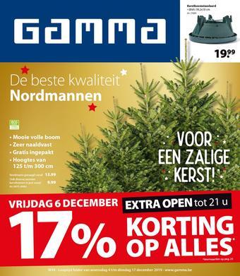 GAMMA reclame folder (geldig t/m 17-12)