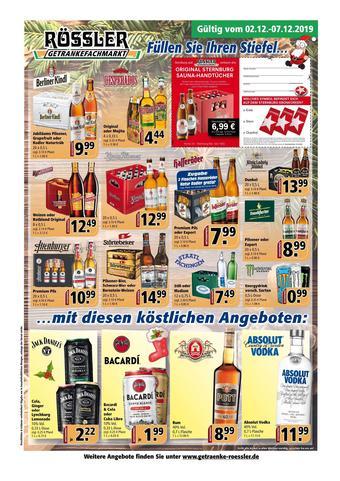 Getränke Rössler Prospekt (bis einschl. 07-01)