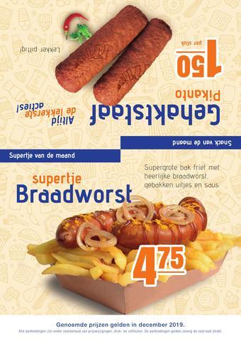 One 2 Eat reclame folder (geldig t/m 31-01)