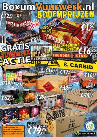 Boxum Vuurwerk reclame folder (geldig t/m 31-12)