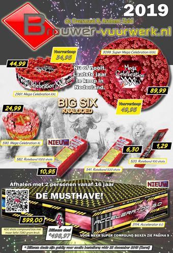 Brouwer vuurwerk reclame folder (geldig t/m 31-12)