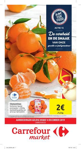 Carrefour Market reclame folder (geldig t/m 15-12)