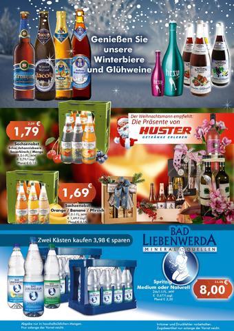 Getränke Huster Prospekt (bis einschl. 14-12)