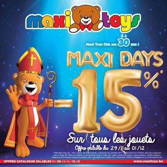 Maxi Toys reclame folder (geldig t/m 15-12)