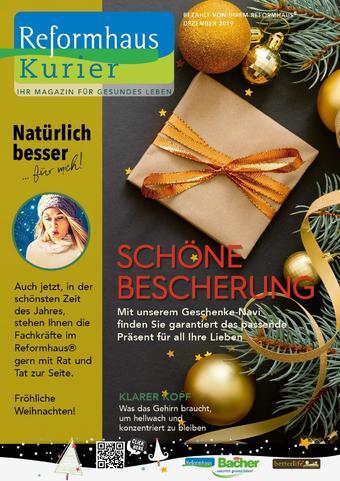 Reformhaus Bacher Prospekt (bis einschl. 31-12)