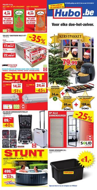 Hubo reclame folder (geldig t/m 15-12)