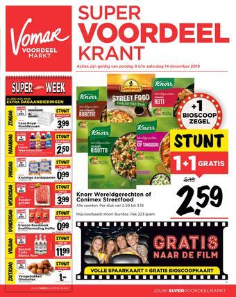 Vomar reclame folder (geldig t/m 14-12)