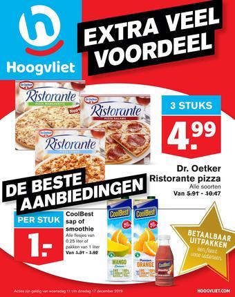 Hoogvliet reclame folder (geldig t/m 17-12)