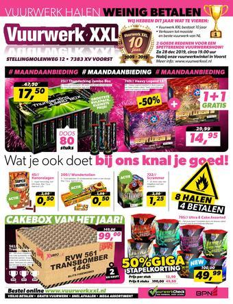 Vuurwerk XXL reclame folder (geldig t/m 27-12)