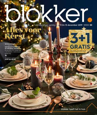 Blokker reclame folder (geldig t/m 15-12)
