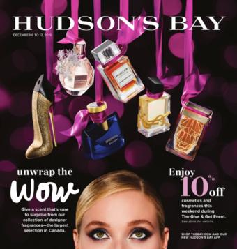 Hudson's Bay reclame folder (geldig t/m 12-12)
