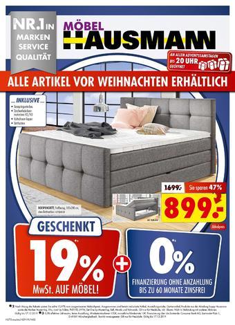 Möbel Hausmann Prospekt (bis einschl. 17-12)