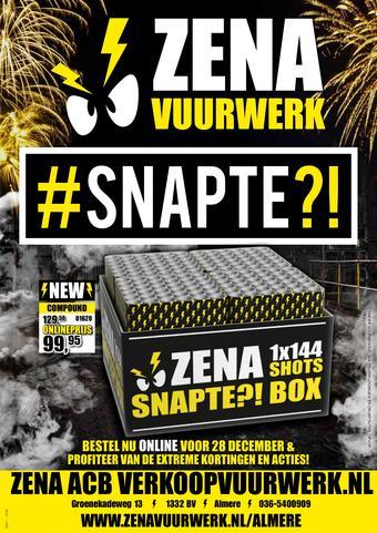Verkoop Vuurwerk reclame folder (geldig t/m 31-12)