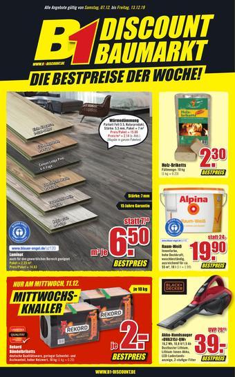 B1 Discount Baumarkt Prospekt (bis einschl. 13-12)