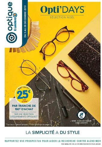 E.Leclerc Optique catalogue publicitaire (valable jusqu'au 28-12)