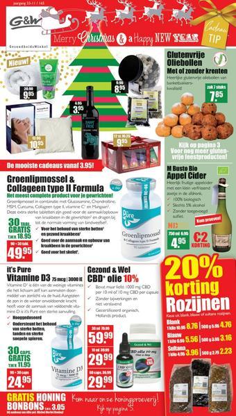 Gezond & Wel reclame folder (geldig t/m 29-12)