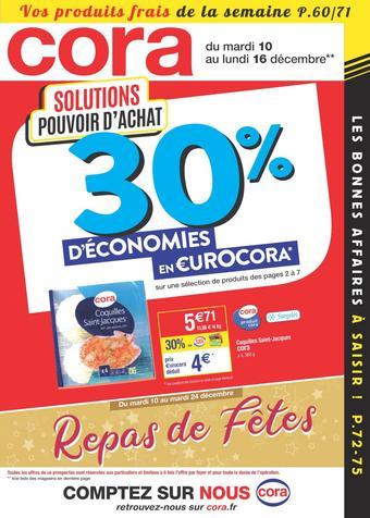 Cora catalogue publicitaire (valable jusqu'au 16-12)