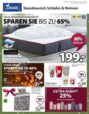 Dänisches Bettenlager Prospekt (bis einschl. 15-12)