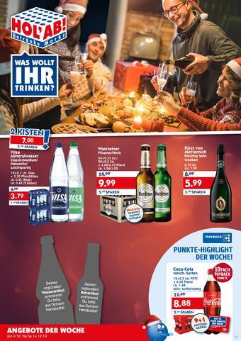 Hol'ab Getränkemarkt Prospekt (bis einschl. 14-12)