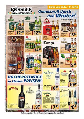 Getränke Rössler Prospekt (bis einschl. 14-01)