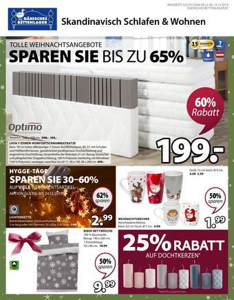 Dänisches Bettenlager Werbeflugblatt (bis einschl. 15-12)