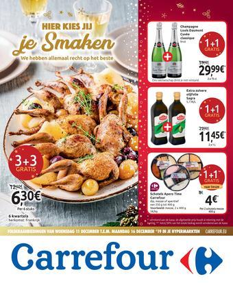 Carrefour reclame folder (geldig t/m 16-12)