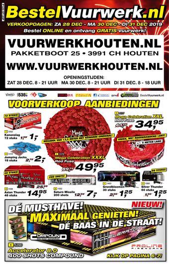 Vuurwerkhouten reclame folder (geldig t/m 31-12)