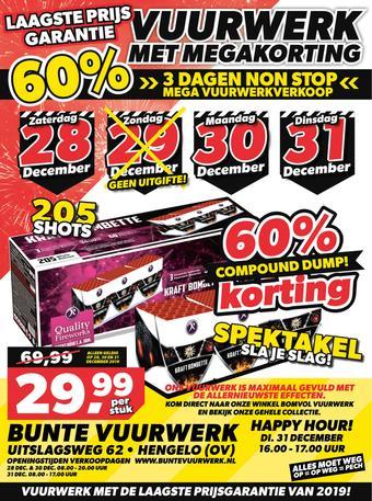 Bunte Vuurwerk reclame folder (geldig t/m 31-12)