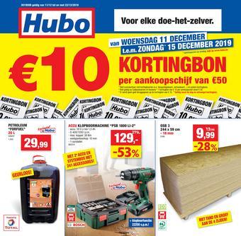 Hubo reclame folder (geldig t/m 22-12)