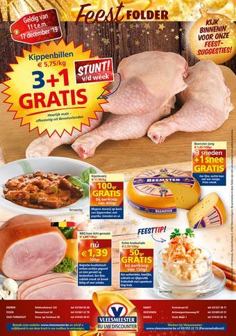 Vleesmeester reclame folder (geldig t/m 17-12)