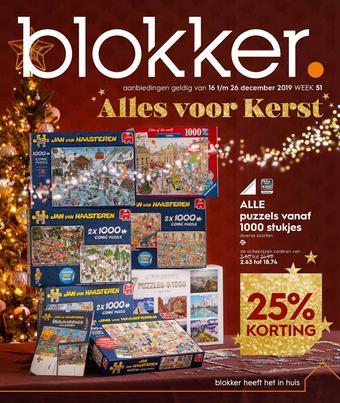 Blokker reclame folder (geldig t/m 26-12)