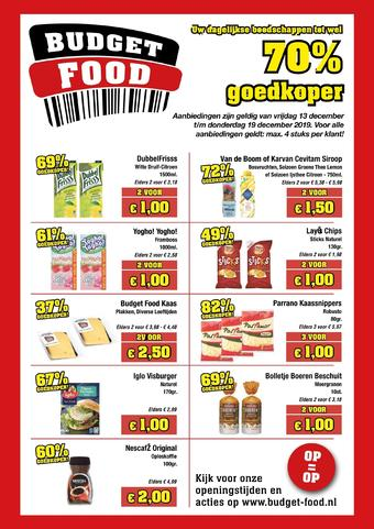 Budget Food reclame folder (geldig t/m 19-12)