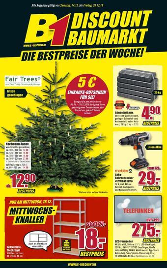B1 Discount Baumarkt Prospekt (bis einschl. 20-12)