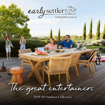 Early Settler catalogue (valid until 31-05)